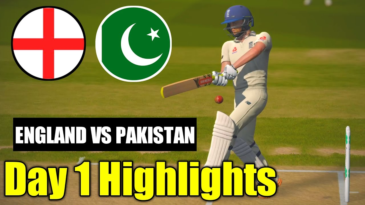 ENGLAND VS PAKISTAN 1ST TEST DAY 1 HIGHLIGHTS IN CRICKET 19   PC GAMEPLAY