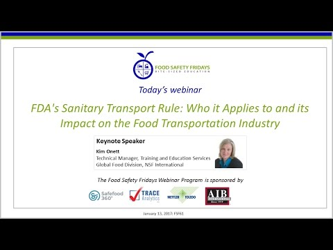 FDA's Sanitary Transport Rule: Who it Applies to and its Impact on the Food Transportation Industry