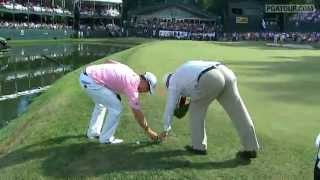 Zach Johnson's takes five drops on No. 18 in Round 4 of John Deere Classic