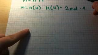 Mol in Gramm umrechnen / Chemie verstehen