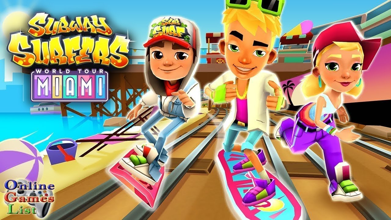 Subway surfers miami android gameplay hd youtube - Subway surfers wiki ...