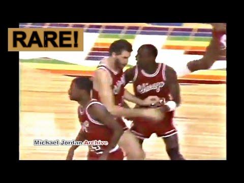 Rookie Michael Jordan Amazing Move on Calvin Natt! Don