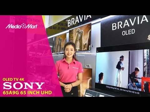 Smart Tivi OLED Sony 4K 65inch 65A9G : Android tivi 8.0 hỗ trợ Google Assitant