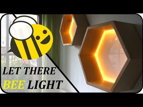 #001 DIY Wabenlampen | wooden hexagon lamp