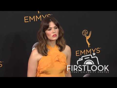 Mandy Moore arriving at the 2016 EMMY Awards