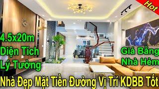 Bán nhà Gò Vấp 297| Mẫu nhà Mặt Tiền Đường vị trí KDBB diện tích 4.5x20m quá đẹp Giá Rẻ bằng nhà hẻm