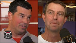 Ryan Day, Dabo Swinney look ahead to Ohio State vs. Clemson | College Football on ESPN