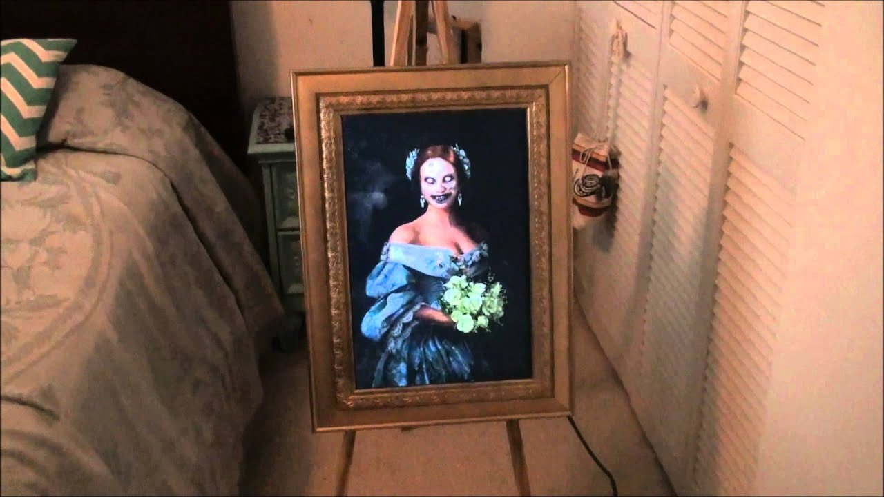 Haunted ghost portrait halloween prop youtube jeuxipadfo Choice Image