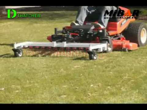 Ztr Dethatcher Available For Most Zero Turn Mower Youtube