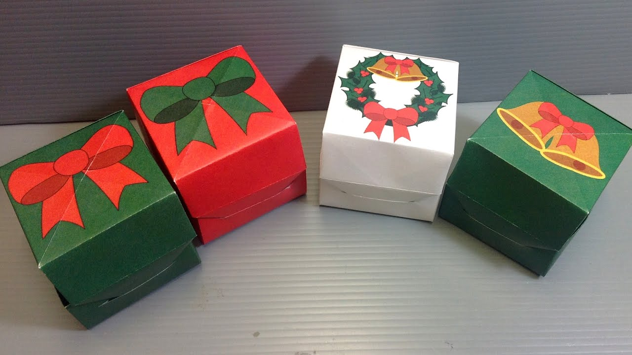 Origami Christmas Gift Box - Print Your Own - YouTube