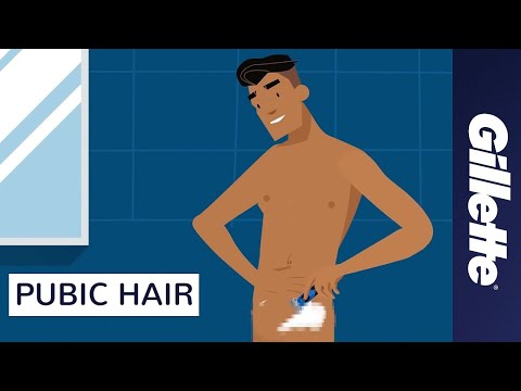 How to trim your pubic area male video