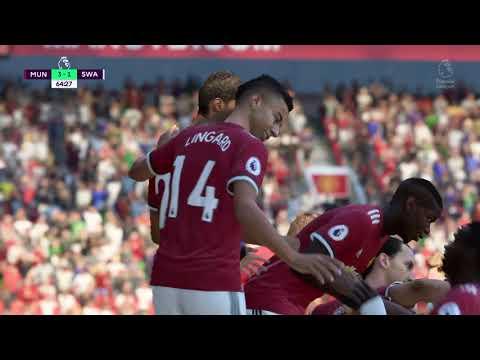 FIFA 18 amazing header goal pogba man utd