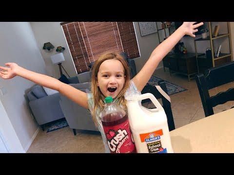 Chloe tries to make soda slime! (FAIL)