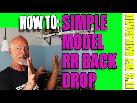 028: How To Make A Simple Backdrop For Your Model Railroad Layout