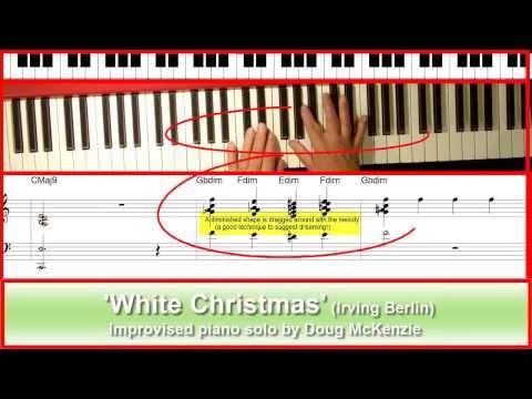 'White Christmas' - jazz piano tutorial