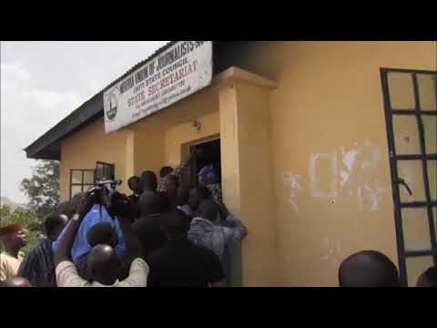VIDEO: Ekiti NUJ Election Disrupted! Ballot Box Destroyed By Hoodlums