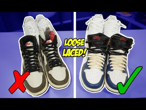 HOW TO LACE JORDAN 1's & AIR FORCE 1's LOOSELY!