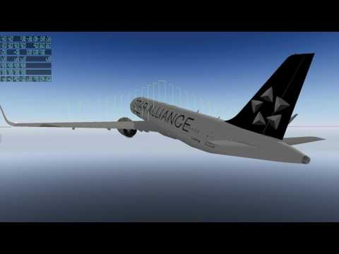 Testing Stall and Spin Characteristics of A320neo Flight Model (Clean configuration) - X-Plane 10