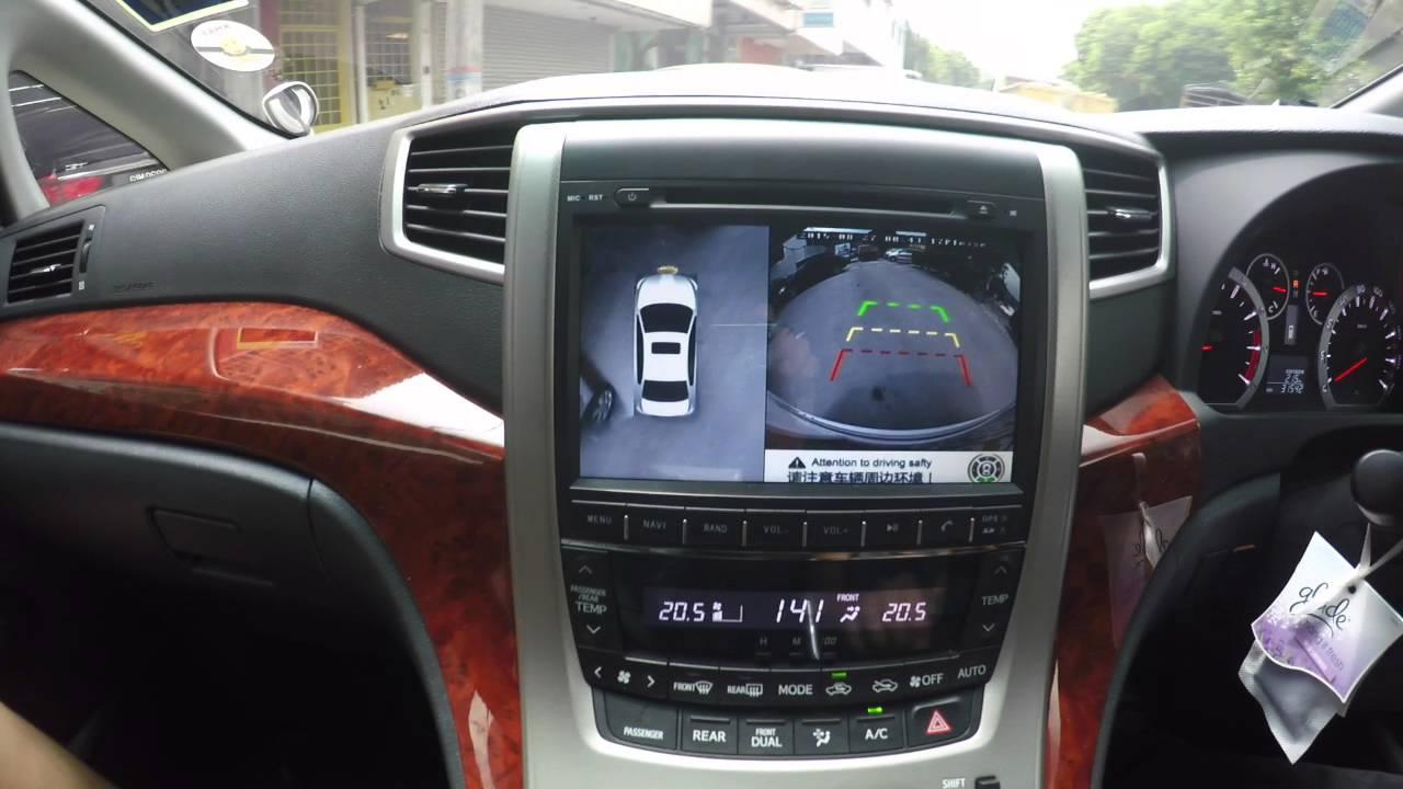Red Range Rover >> Toyota Vellfire (ANH20) - Aftermarket 360'deg camera - YouTube