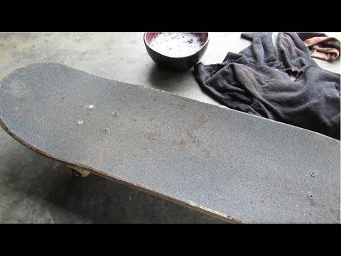 How To Clean Your Skateboard GripTape Without Buying Nothing!! **INSTANTLY**