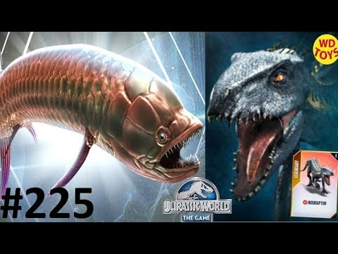 INDORAPTOR 1,000 SDNA Gillicus Tournament  : Jurassic World The Game EP225 Indominus Rex Vs T-Rex