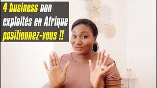 4 business à lancer en Afrique. Avec gestion à distance pour diaspora !!!