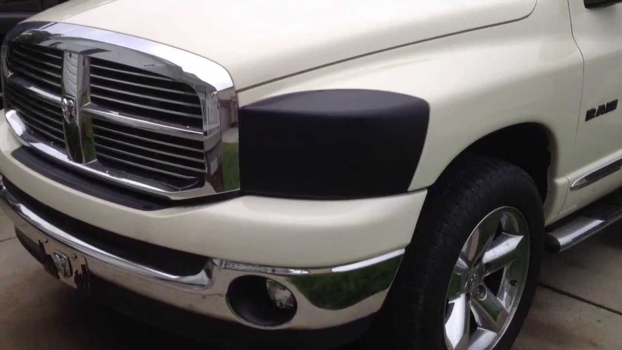 Plasti Dip 2008 Dodge Ram Head Lights Youtube