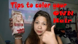 Be your own hair stylist / Hair Coloring / Hair Dye using Garnier Color Intensity / Blond Hair Dye