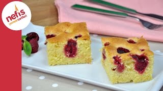 Frambuazlı Kek Tarifi  | Meyveli Yumuşacık Kek Nasıl Yapılır?