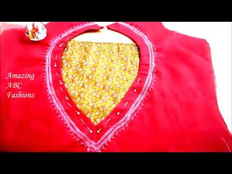 Patch work design for Churidar/ Kurti - Cutting & Stitching - Complete Tutorial