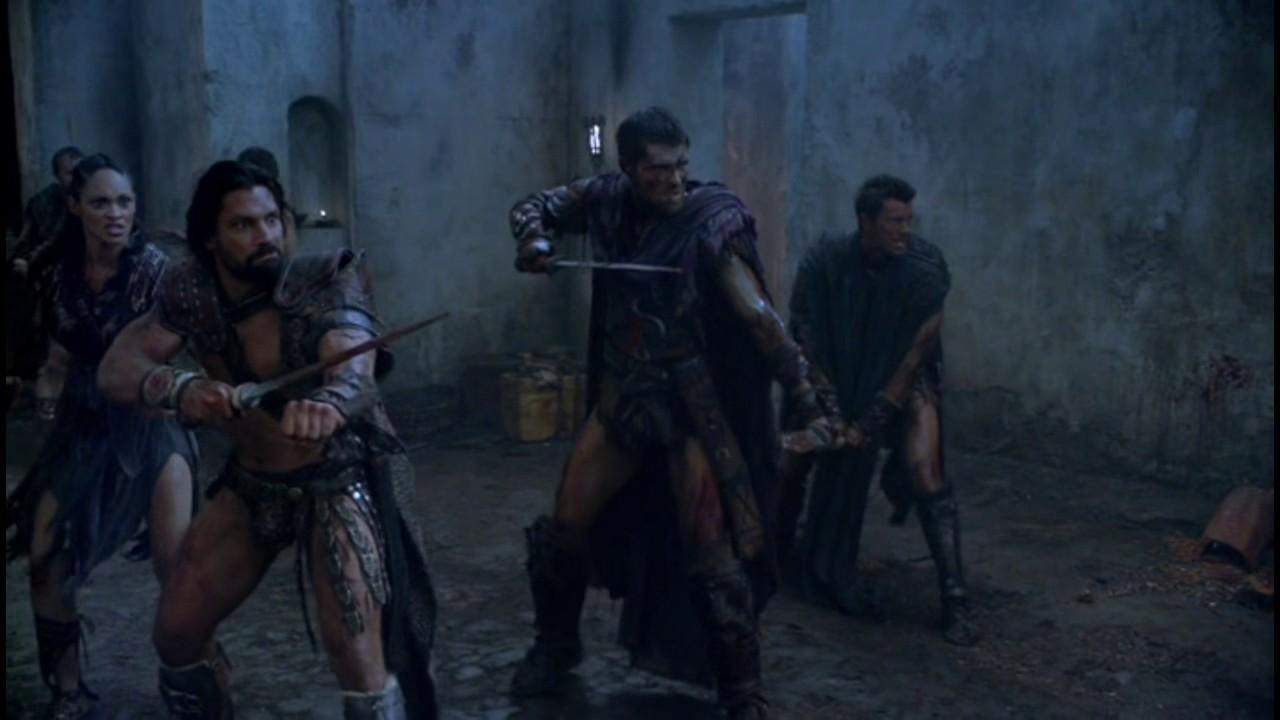 Сериал Спартак. Спартак сбегает от Красса. Ганник и Сибилл ...