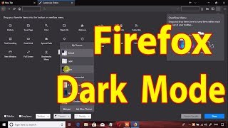 Mozilla Firefox  Windows 10 Dark Mode Feature