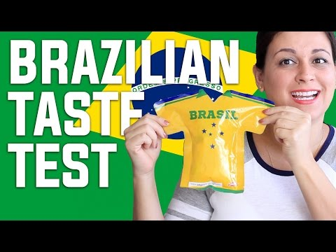 BRAZILIAN FOOD TASTE TEST #1 | BRAZIL | VIVIAN REACTS