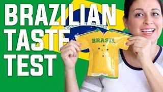 BRAZILIAN FOOD TASTE TEST | Secret Life Of Vivian
