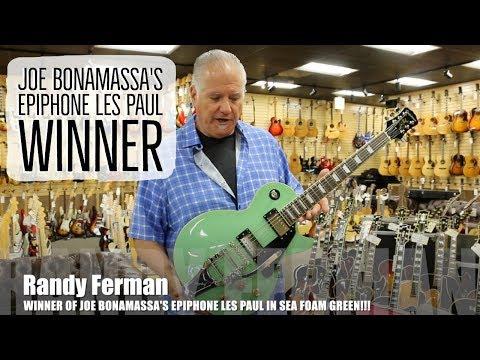 WINNER ANNOUNCED for Joe Bonamassa's Epiphone Les Paul at Norman's Rare Guitars