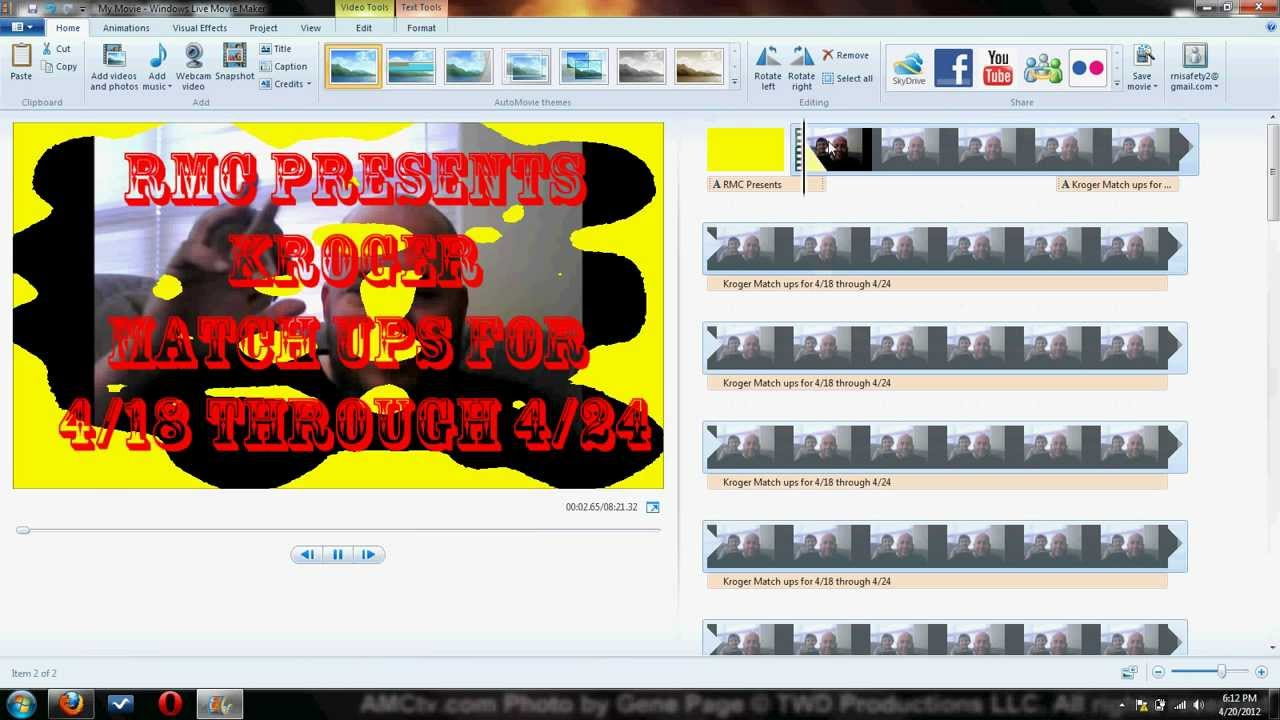 how to cut videos with windows live movie maker