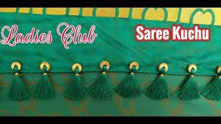 Saree Kuchu Using Beads Easy Design I Gonde Designs I Kuchulu Designs