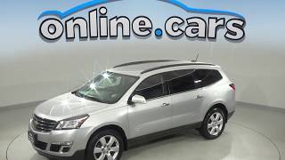 A10003JA Used 2016 Chevrolet Traverse LT FWD 4D Sport Utility Silver Test Drive, Review, For Sale