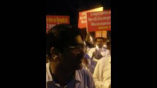 Gramin Bank Pensioners Candle light March Clip 1 2017 Video