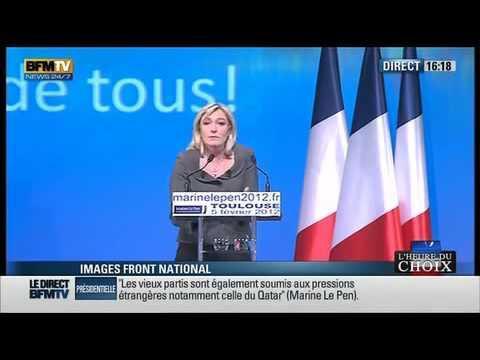 Marine Le Pen : meeting à Toulouse