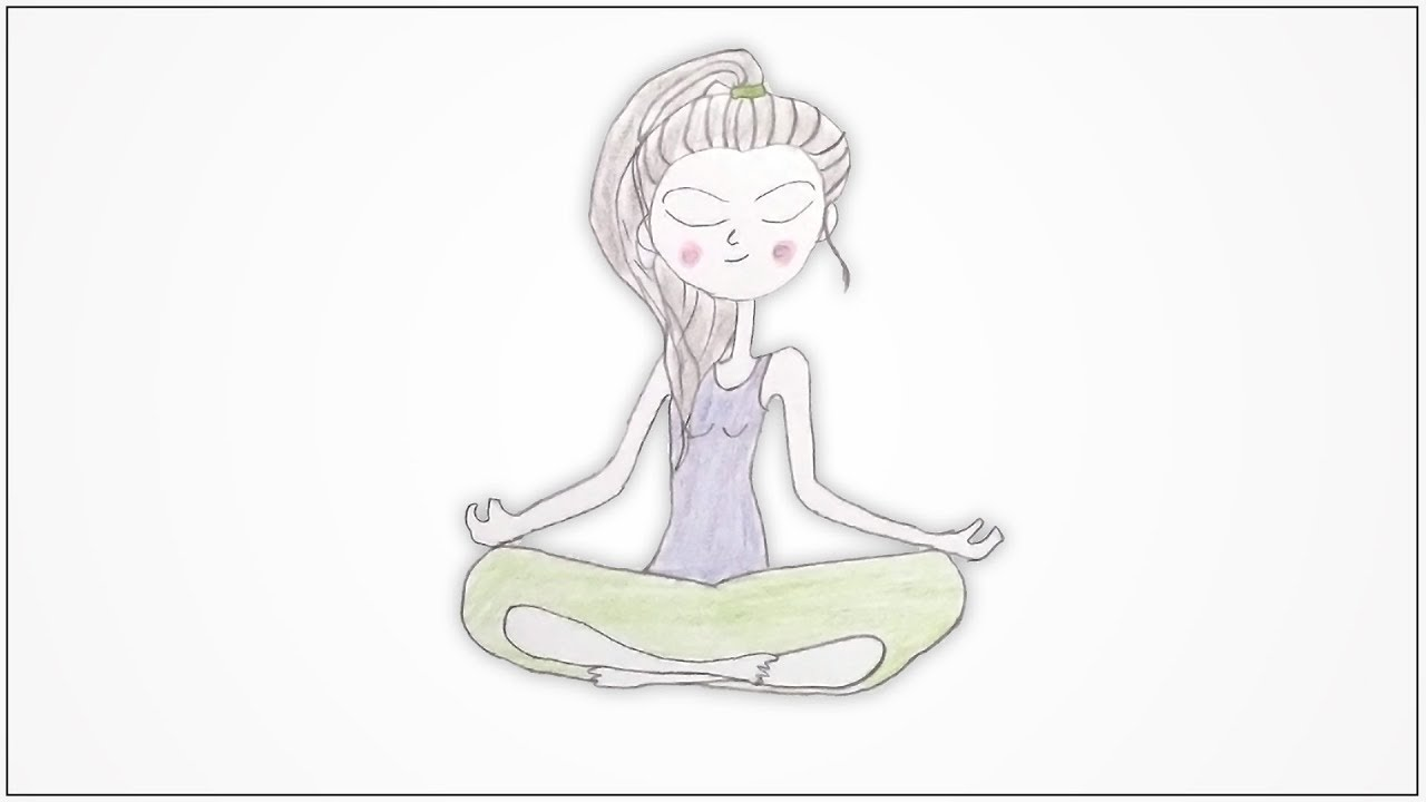 How To Draw A Yoga Poses Sukhasana Youtube