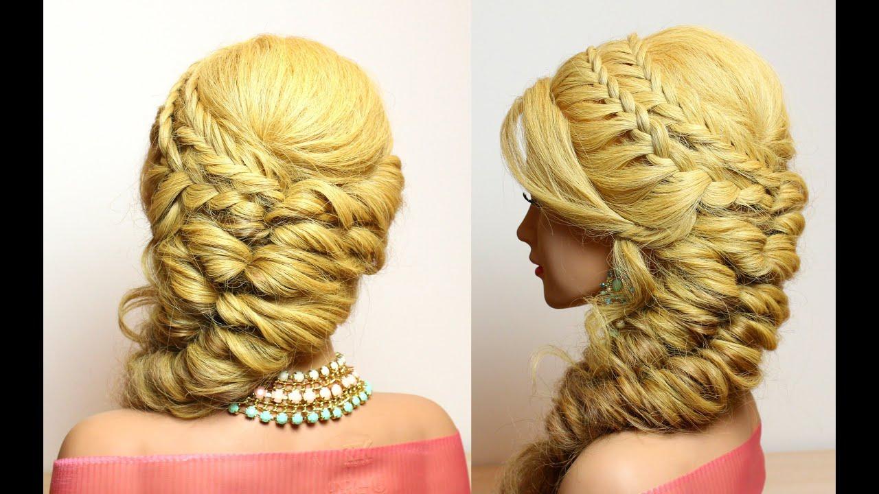 prom hairstyle long medium