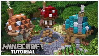 How to Build a Small Starter Mushroom House [Minecraft Tutorial] YouTube