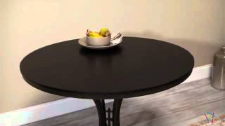 Innobella Destiny 38 In. Round Wood Folding Table - Chocolotto - Product Review Video