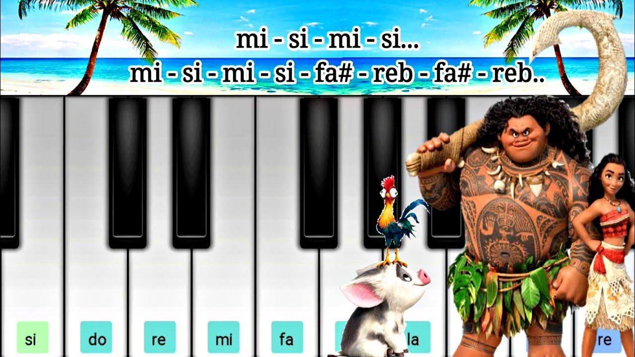 Moana How Far L Ll Go Cuan Lejos Voy Perfect Piano Notas Youtube