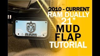 "Video 2010-2018 Ram 3500 DRW 21"" Gatorback Mud Flap Installation download MP3, 3GP, MP4, WEBM, AVI, FLV Juli 2018"