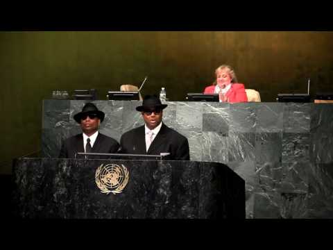 Jimmy Jam & Terry Lewis Speak at IYLA Global Summit at the UN General Assembly Hall