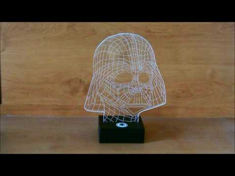 lampe star wars masque dark vador acrylique effet 3d sur httpwwwrapid cadeaucom