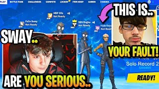 FaZe SWAY *CALLS OUT* CLIX to WAGER then THIS HAPPENED when HE REFUSED! (Fortnite)
