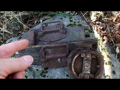 WW2 ammo box and artillery relics found.